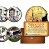 Yankees Legends 24K Gold Plated NY State Quarters 7-Coin Set w/ Bonus Babe Ruth