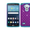 Insten Hard Hybrid Case W/diamond For Lg G Stylo/g Vista 2 Purple/teal