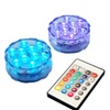 LED Remote Control Battery Operated Submersible Lights 2 ct