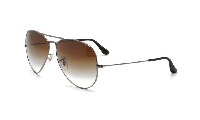733dc30c19c74 Ray Ban RB3025 004 51 58mm Gunmetal Light Brown Gradient Aviator Sunglasses    Groupon