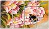 Bee Sitting on Flower - Floral Glossy Aluminium Art artwork