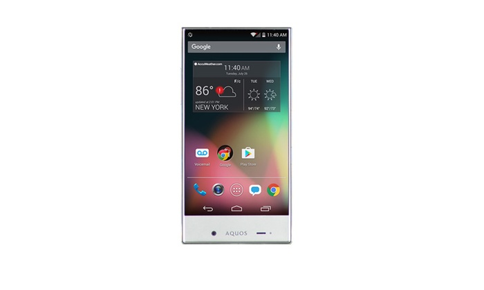 Sharp Aquos Crystal w/ 100% Free Mobile Phone Service FreedomPop
