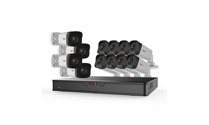 Ultra HD 16 Ch. 3TB NVR Surveillance System w/ 12 2 Megapixel Cameras