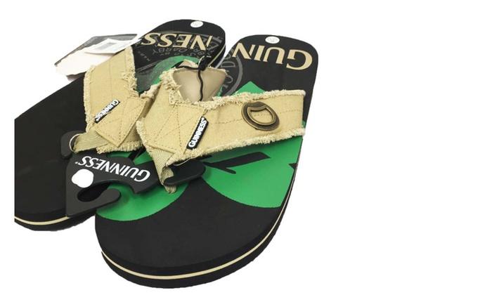d2cf6dc50746 Guinness Beer Flip Flop Sandal Thong with Built -In Beer Bottle Opener