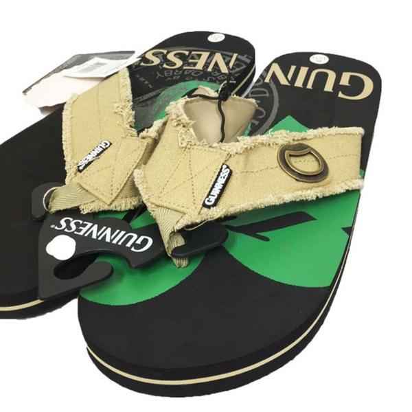 2dd96e109e49 Guinness Beer Flip Flop Sandal Thong with Built -In Beer Bottle Opener