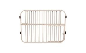 Carlson 0632DS Extra Tall Expandable Metal Pet Gate Beige at UnbeatableSale, plus 6.0% Cash Back from Ebates.