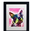 Dean Russo 'Boston Terrier' Matted Black Framed Art