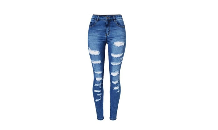 Women's Solid Slim Fit High Rise Stylish Long Jeans