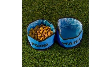 Collapsible Travel Pet Bowls (2-Piece)