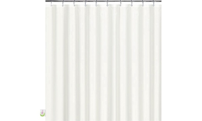 Mildew Resistant Shower Curtain White