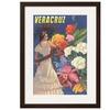 Poster for Veracruz, Mexico, Senorita with Flowers