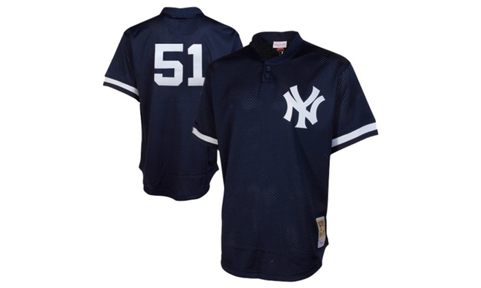 low cost 70d7d 01a51 Mens Yankees Bernie Williams Cooperstown Mesh Batting ...