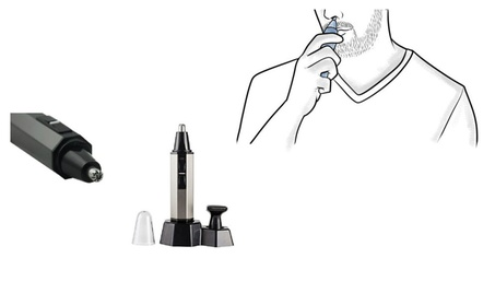 New Cordless 2 in 1 Nose and Ear Hair Clipper With Vacuum Cleaning fcdde97a-cdc2-43f1-9faa-63cda4d1c35a