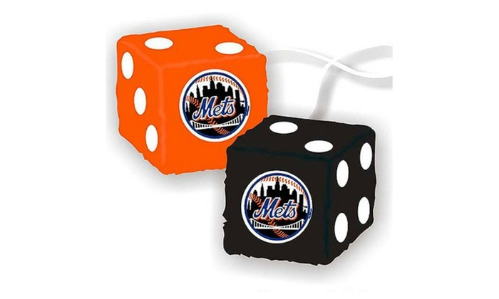 Fremont Die Consumer Products F68021 Fuzzy Dice New York Mets