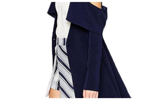 Women's Slim Fit Stylish Simple Solid Straight Hem Cardigan