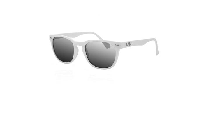 Zanheadgear NVS Sunglass Matte White w/Smoke Reflective Lens