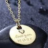 """""""Love You More"""" Necklace in 14K Gold Plated by RUBIQUE JEWELRY"""