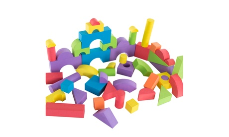 50-Piece Non-toxic EVA Foam Building Blocks by Hey! Play! 24677a4e-56dd-453a-8b73-e1273a7a06e3