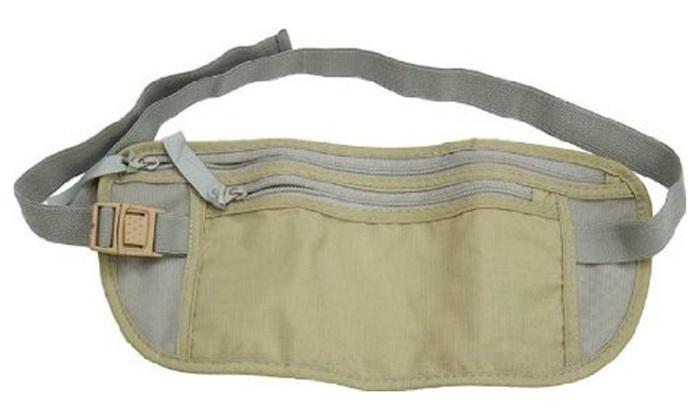 Money Belt Travel Waist Bag Pocket Id Passport Pouch Hidden Wallet