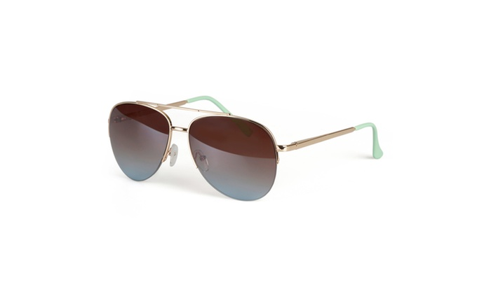 Journee Collection Womens Fashion Metal Aviator Sunglasses