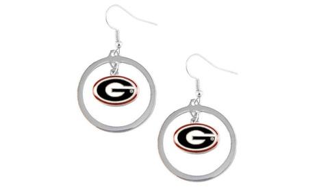 Georgia Bulldogs Hoop Logo Earring Set NCAA Charm 40aa77b0-9e06-4f6a-b793-01cea8c40280