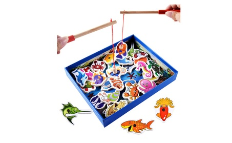 Early Educational Toy Wooden Magnetic Fishing Toy Set Kid Baby Gift 13f1e1e1-970d-4588-89d8-3ded4436fa2e