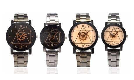 LAGGRA Luxury Compass Stainless Steel Quartz Analog Wrist Watch