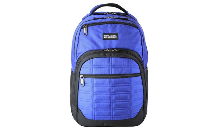 Kenneth Cole R-Tech Wreck Double Gusset Laptop Backpack – Royal Blue