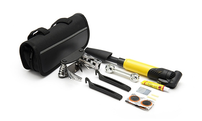 Bicycle Repair Tools Portable Cycling Tool Set with Carry Bag Mini Too