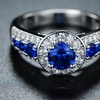 Blue Spinel and Cubic Zirconia Ring by Peermont