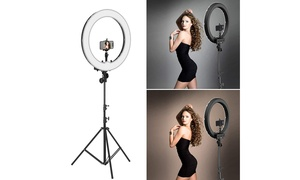 """12"""" 180pcs Dimmable LED Continuous Camera Light Kit Ring Lights w/ Carry Bag"""