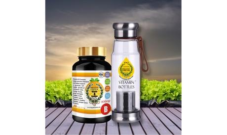 Organic Greek Vitamin Water Bottles 550mL with Vitamin B Complex