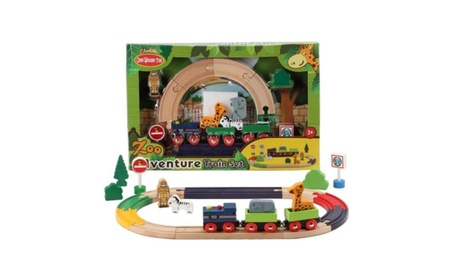 Omni Wooden Toys 964015Z Zoo Adventure Train Set - 22 Piece c6e876ee-eec7-4263-9d56-0d99ab690724