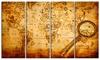 Groupon Goods: Magnifying Glass on World Map - Digital Glossy Metal Wall Art