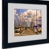 Lois Bryan 'Pirates Cove' Matted Black Framed Art
