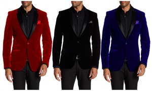 Suslo Couture Men's Velvet Blazer