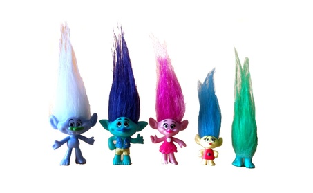 5 Pcs Dreamworks Trolls Movie Action Figure Toy Set Poppy Branch Model ffda7601-f9ea-4a7c-99f4-989ae4bddc60