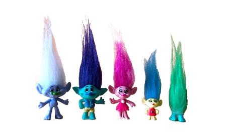 5pcs DreamWorks Movie Trolls Action Figure Poppy Branch Toy Set Gift 166a7528-0d7b-4e04-bc5a-0a0c72e24929