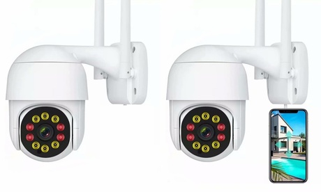2 Pack Security Cameras 1080P WiFi Motion Detection Alert Security Cameras