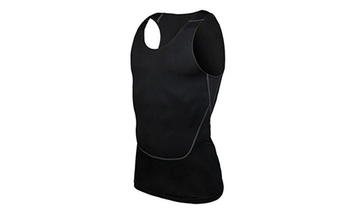 Men's Sports Compression Under Base Layer Gear Wear Shirt Top