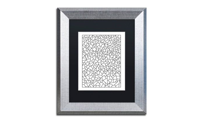 Kathy G. Ahrens 'Shards' Matted Silver Framed Art