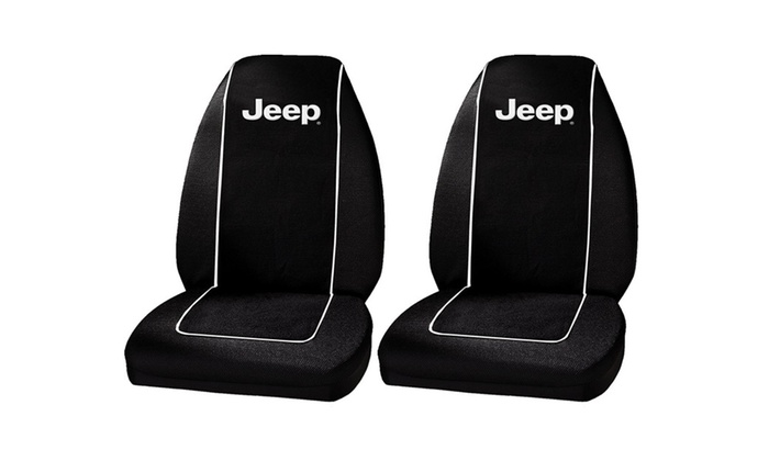 MD Trading Inc.: Plasticolor 6563R01 Jeep Logo Front Bucket Seat Covers - One Pair