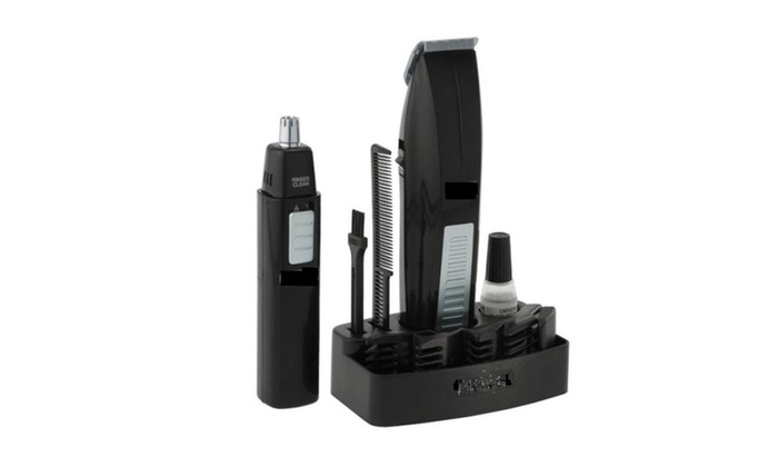 high quality wireless men 39 s beard trimmer and ear nose trimmer groupon. Black Bedroom Furniture Sets. Home Design Ideas