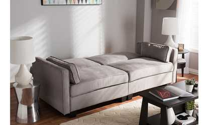 Shop Groupon Felicity Fabric Upholstered Sleeper Sofa