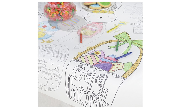 Easter Kids Coloring 48 in. x 36 in. Table Cover (3-pack) | Groupon