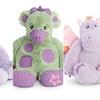 American Girl Bitty Baby Stuffed toys - Hedgehog, Giraffe, Dragon