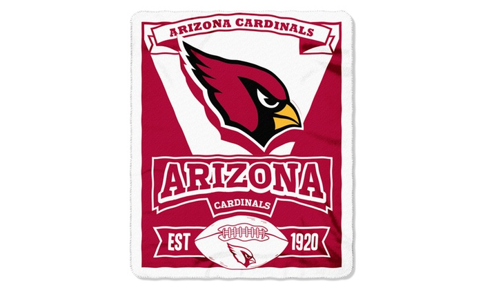 NFL 031 Cardinals Marque Fleece Throw