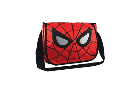 "Marvel Comics Spider-Man Eyes 15"" x 12"" Messenger Bag 31ef1dcd-f7d1-4730-84db-104f2158e3f1"