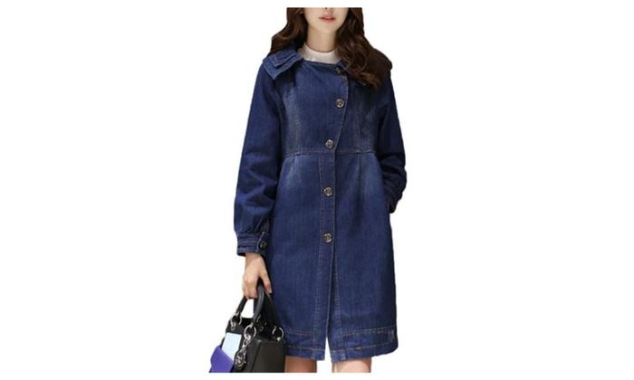 Women's 100% Cotton Without Hood Slim, Skinny Denim Jacket