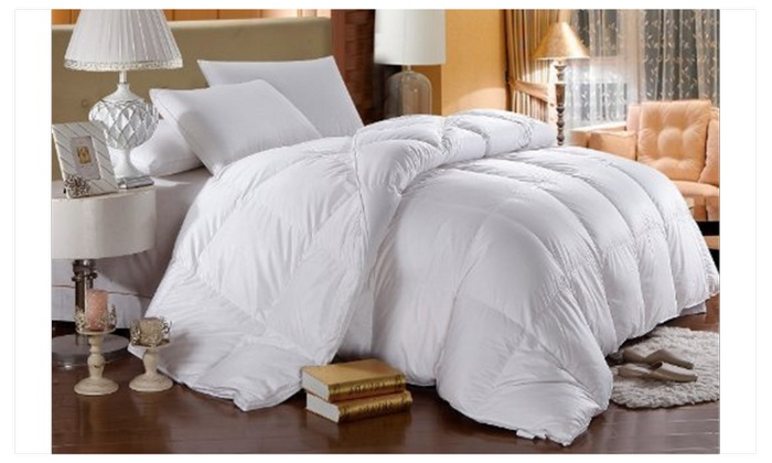dp size goose color comforter count luxurious egyptian thread down white king